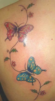 Butterfly And Flower Tattoos | Butterfly Tattoo Art Pictures Images Photos Ink Flash 24