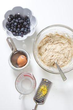blueberry + lemon toddler muffin - babyfoode