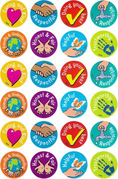 Character Values Merit Stickers - Australian Teaching Aids - 96 brightly coloured values education stickers to reward or decorate. Classroom Board, Classroom Labels, Classroom Displays, Values Education, Character Education, Kids Education, Teacher Stickers, Reward Stickers, Student Rewards