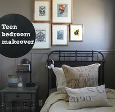 Stumped when it comes to decorating your teen's room? Check out this Teen Boy Bedroom Makeover {before and after} | via Jeanne Oliver