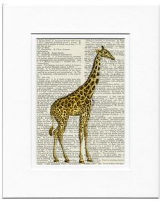 giraffe 18oo's giraffe artwork printed on page from by FauxKiss