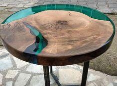 Walnut Wood Epoxy Resin Coffee Table Quality Is Ne. - - Tisch - Make Epoxy Epoxy Wood Table, Wooden Tables, Into The Woods, Wood Table Design, Table Designs, Resin Furniture, Outdoor Furniture, Furniture Ideas, Furniture Design