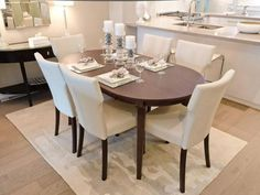 30 Best Oval Tables Ideas You'll Love - InteriorSherpa Circular Table, Oval Table, Dining Table, White Dining Set, Architectural Features, Kitchen Cabinetry, Built In Storage, Table Legs, Tables