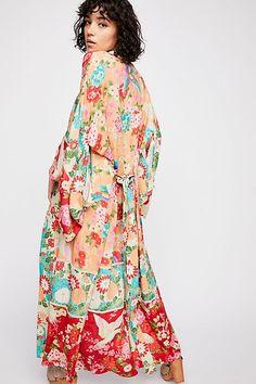 Slide View 2: Delilah Patchwork Maxi Kimono