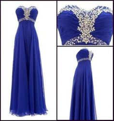Beaded Prom Dresses,Royal Blue Prom Dress,Beading Formal Gown,Elegant Prom Dresses,Sweetheart Evening Gowns,Chiffon Formal Gown,Prom Gowns For Senior Teens