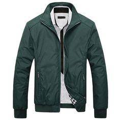 Men's Solid Fashion Jacket