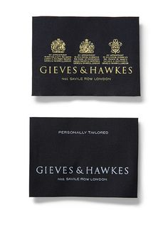 Gieves & Hawkes Identity by Studio Small
