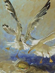 The Art of Jamie Wyeth...on display in Maine...the 7 deadly sins...with seagulls!