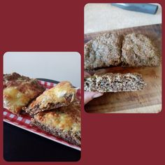 This is a versatile flatbread that I like both focaccia style (with cracked salt and fresh rosemary) and pizza style with a blend of cheeses on top. Gluten Free Recipes, Low Carb Recipes, Linseed Flaxseed, Pizza Style, Ground Almonds, Nut Free, Allergies, Salt, Dairy