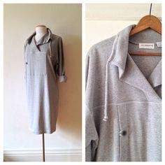 sweat shirt dress / heather grey sweatshirt dress  by dinalouiseSF, $52.00
