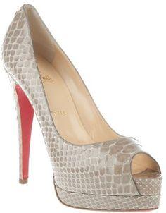 ShopStyle: Christian Louboutin peep toe shoe