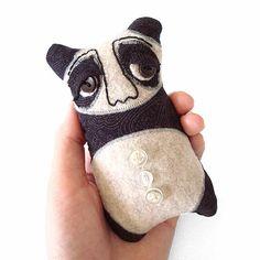 Soft Sculpture Plush Pandra the Mini Panda от farburvur на Etsy