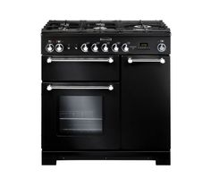 Buy RANGEMASTE Kitchener 90 FSD Dual Fuel Range Cooker - Black - Trade-in offer | Free Delivery | Currys