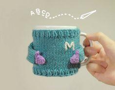 Mug Sweater with Initial Monogram