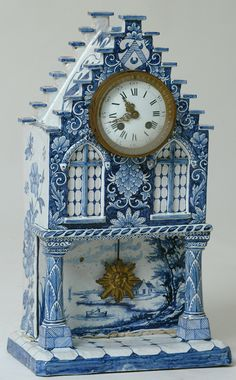 Delft shelf clock.