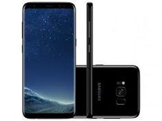 "Smartphone Samsung Galaxy S8 64GB Preto Dual Chip - 4G Câm. 12MP + Selfie 8MP Tela 5.8"" Quad HD"