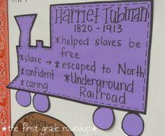 Black History Month: Harriet Tubman  thefirstgraderoundup.blogspot.com