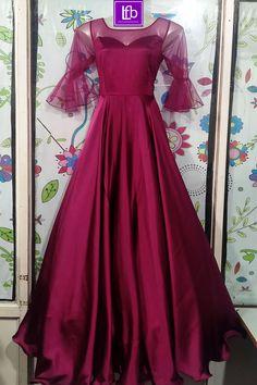 Long Dress Design, Stylish Dress Designs, Stylish Dresses, Fashion Dresses, Long Gown Dress, Frock Dress, Saree Dress, Dress Up, Indian Gowns Dresses