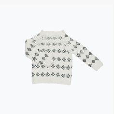 Folk Hand-knitted Alpaca Pullover - 2-8y