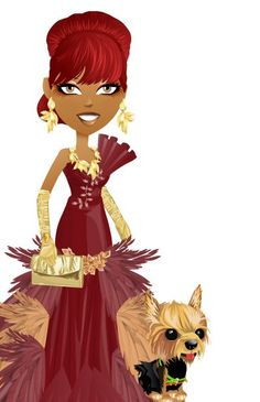 custom gown for mall world and fashion designer avatars