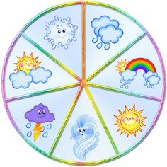 weather crafts, cloud rainbow crafts and weather, weather crafts and activities for kids, weather theme crafts and tutorials for kids, preschool Seasons Activities, Weather Activities, Classroom Activities, Activities For Kids, Crafts For Kids, Weather For Kids, Weather Crafts, English Lessons For Kids, Puzzles For Kids