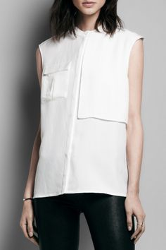 Spring Shop: Fall in love with the breezy silhouette of the Giles Blouse in White.