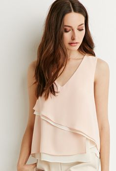 Contemporary Layered Asymmetrical Top   Forever 21 - 2000155705