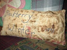 old quilt pillow blackberry winter   cplg  where rustics by jaja8, $24.98