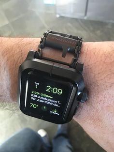 Apple Watch, Epik Black Aluminum Case & Leatherman Tread