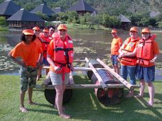 Another group from Upstream Advertising with their Raft Building Teambuilding on the dam at Intundla. Team Building Venues, Raft Building, Game Lodge, Game Reserve, Back On Track, Rafting, Conference, Wedding Venues, Survival