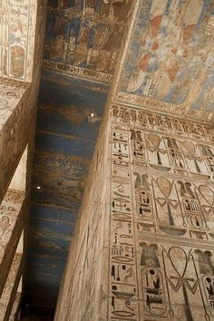 Temple of Ramses III, Egypt -amazing how it's still in tact after all these year. - Temple of Ramses III, Egypt -amazing how it's still in tact after all these years - Ancient Egyptian Art, Ancient Ruins, Ancient Artifacts, Ancient History, Kairo, Amenhotep Iii, Egypt Art, Egypt Travel, Ancient Architecture