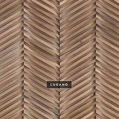 Curva | Chevron | DuChateau #wallcoverings #wood #woodtile #artwall…