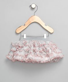 Silver & Pink Ruffle Skirt from Chit Chat