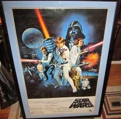 Vintage Star Wars 1977 Episode IV: A New Hope;  US 1st Style C Original Movie Poster 27x41. Professionally framed and matted. by FriendsRetro on Etsy
