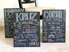 Boys' birthday poster - custom favorite things. $32.00, Moulage Collection via Etsy.