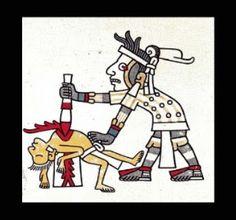 EL SACRIFICIO DE LA BAILARINA (Rito Azteca)// Ya que la planta del maíz ha madurado comenzará el festejo de cosecha; las mujeres agitan el cabello y trasiegan aguardiente en el jolgorio. Van los hombres con tocados emplumados y pinturas y abalorios por el cuerpo a sentarse cabe el fuego en grandes corros y se pasan calaveras donde beben. A la esclava Xalaquia han enseñado pormenores de su ˝rol˝ conforme al rito…—…