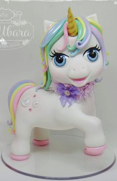Adult Birthday Cakes, 1st Birthday Girls, Unicorn Birthday Parties, Unicorn Party, Unicorn Cakes, Unicorn Cake Topper, Cute Polymer Clay, Cute Clay, Anniversaire My Little Pony