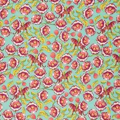 Tula Pink : Eden : Tomato Lotus