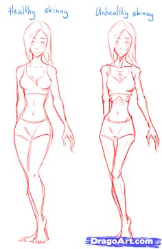 How to Draw Skinny People, Draw Skinny Bodies, Step by Step, Anatomy, People, FREE Online Drawing Tutorial, Added by MauAcheron, June 24, 2012, 1:13:13 am