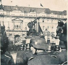 "wwiiimages: ""Prague Castle during the funeral of Reinhard Heydrich. Imperial Security, Prague Castle, Catholic Priest, Paratrooper, Military History, World War Ii, Funeral, Wwii, Camps"