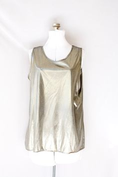Vintage Gold Blouse  Sleeveless   Metallic by PomegranateVintage, $25.00