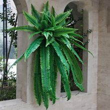 The Persian wall fern plant leaves artificial plant mall background wall Gallery window wedding decoration plastic plant leaves(China (Mainland))
