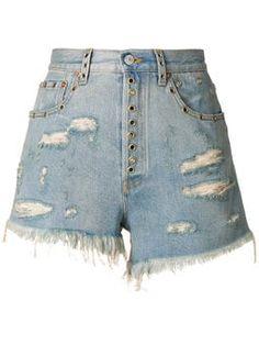 Best Women denim jeans for women women's camouflage pants agolde jeans – yesuslike Denim Shorts Style, Denim Jeans, Blue Shorts, Mens Leather Pants, Ripped Shorts, Short Shorts, Camouflage Pants, Distressed Shorts, Workout Shorts