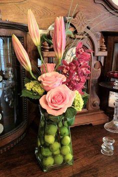 limes in vase, cute idea
