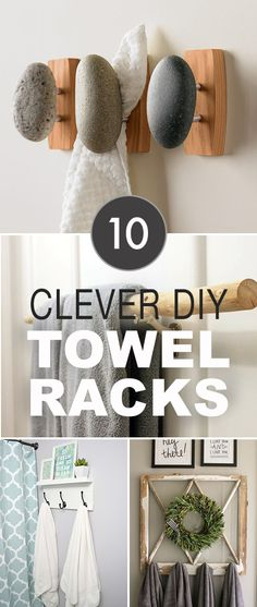 The best DIY projects & DIY ideas and tutorials: sewing, paper craft, DIY. Best Diy Crafts Ideas For Your Home 10 Clever DIY Towel Racks! Bathroom Hand Towel Holder, Diy Bathroom, Bathroom Towels, Bathroom Ideas, Bathrooms, Bathroom Inspo, Simple Bathroom, Bathroom Remodeling, Remodeling Ideas