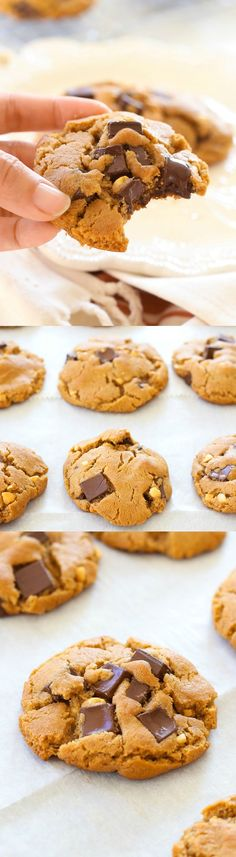 Peanut Butter Dark Chocolate Cookies – buttery cookies loaded with chocolate and peanut butter. So delicious you can't stop eating | rasamalaysia.com