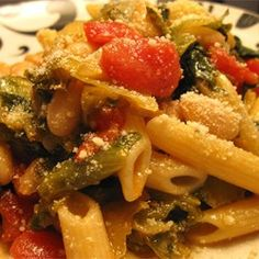 Penne Pasta with Cannellini Beans and Escarole Allrecipes.com