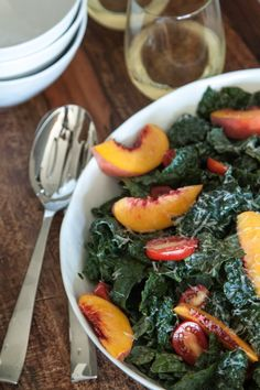 Nectarine and Kale Salad