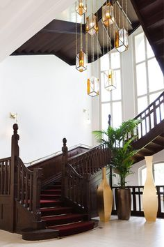 Stairs, Ceiling Lights, Lighting, Design, Home Decor, Stairway, Decoration Home, Room Decor, Lights