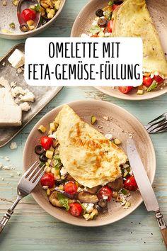 Omelette with vegetable and feta filling Recipe – REWE.de www.de / … Omelette with vegetable and feta filling Recipe – REWE.de www. Vegetarian Recipes Easy, Veggie Recipes, Paleo Recipes, Crockpot Recipes, Chicken Recipes, Dinner Recipes, Vegetable Soup Healthy, Vegetable Dishes, Omelette Legume